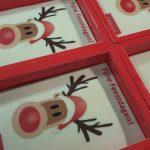 bedrijfts logo op chocolade met kerst met logo of foto gemaakt in de patisserie van tops edelgebak in bilthoven, soest en zeist