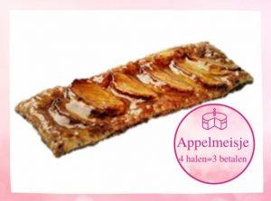 Appelmeisje gemaakt in de patisserie van tops edelgebak in bilthoven, soest en zeist