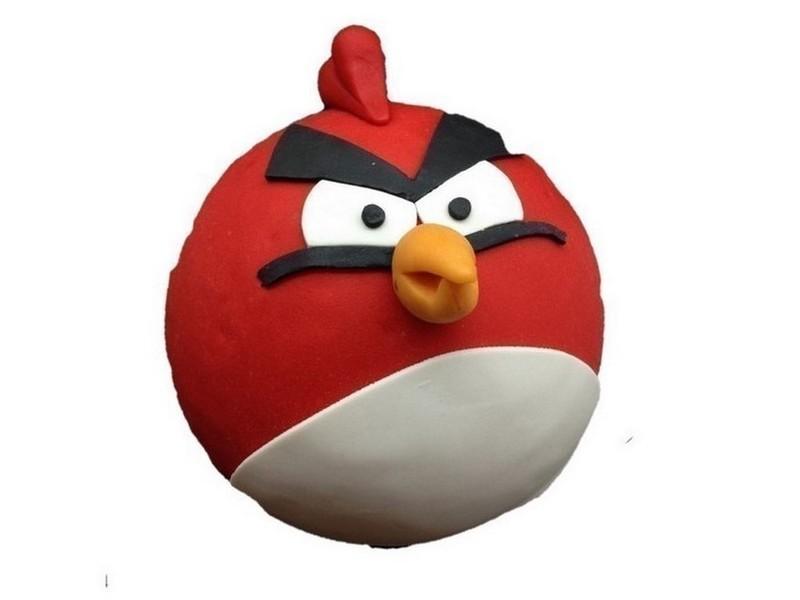 Angry Bird taart