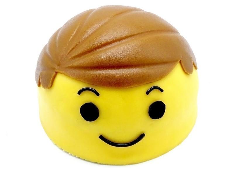 Lego hoofd taart