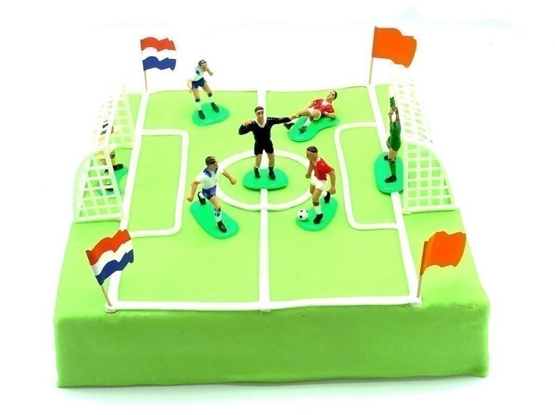 Voetbal veld taart