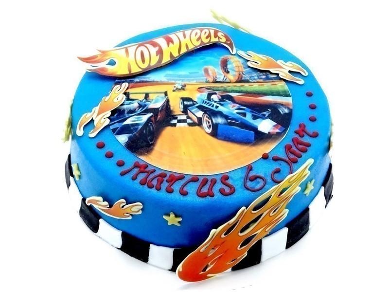 Hot Wheels Taart